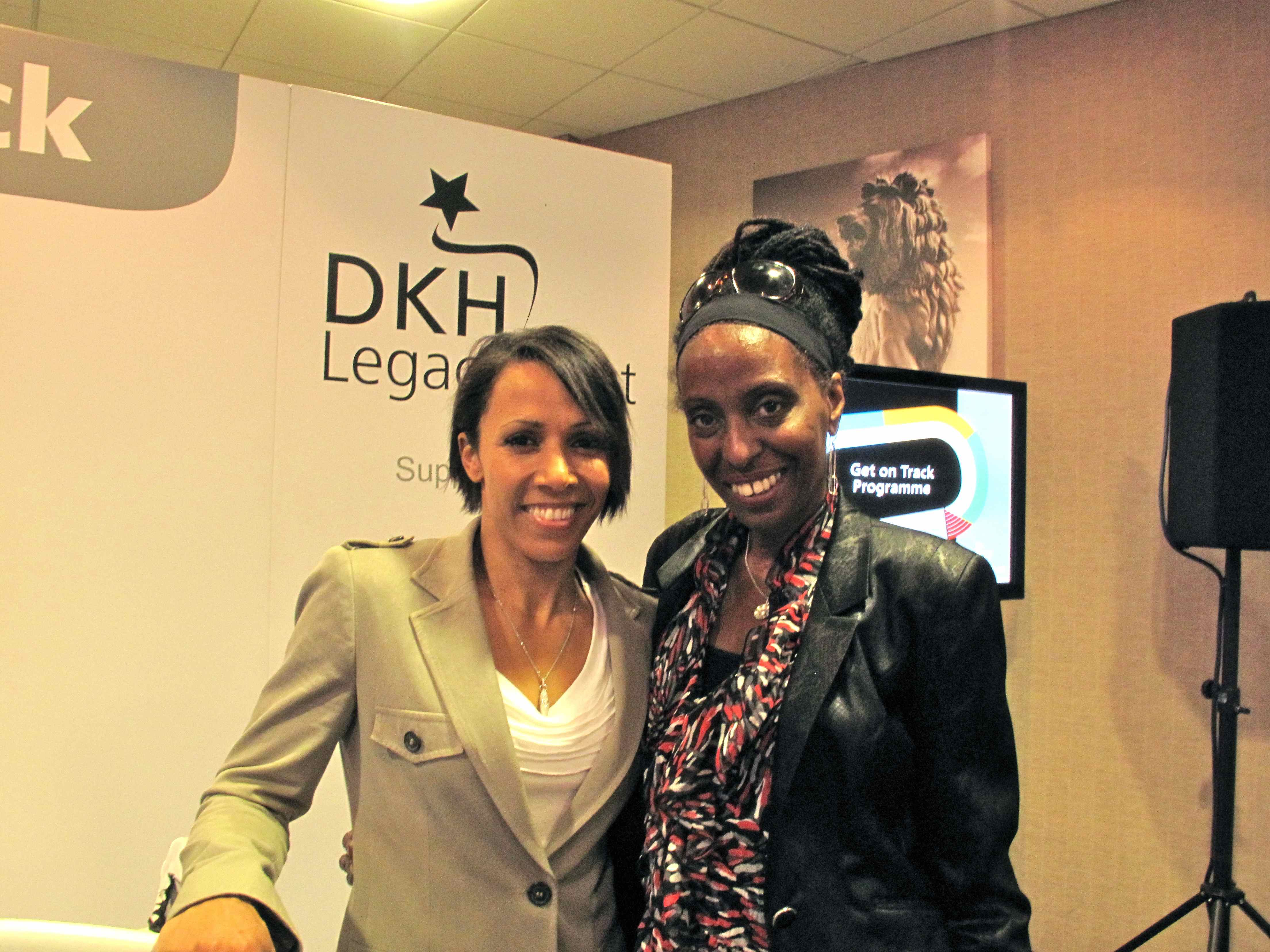 Mary Genis FRSA and Dame Kelly Holmes