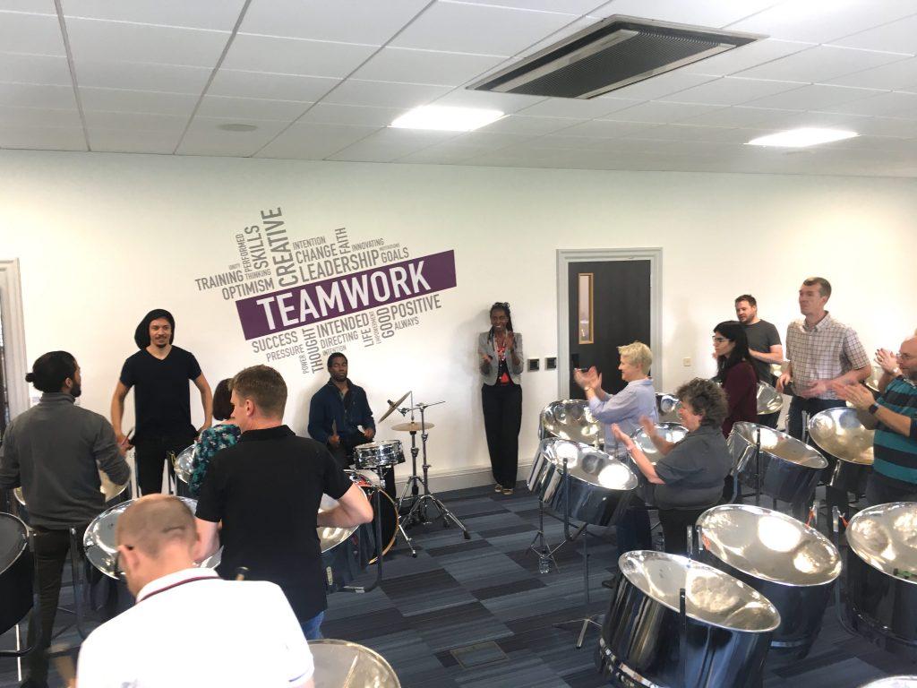 Acutest steel band team building workshop