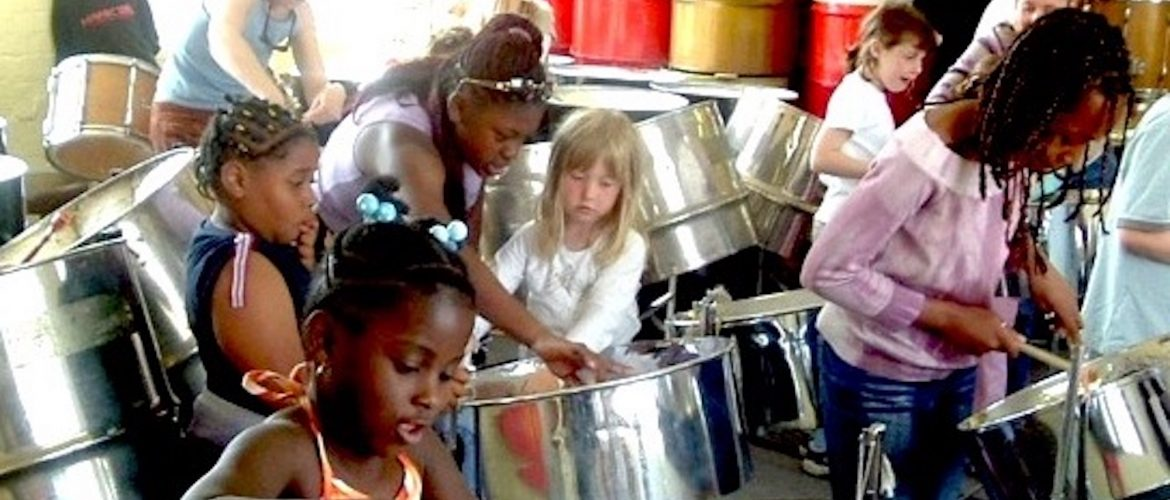 Central Club steel band workshop with CultureMix