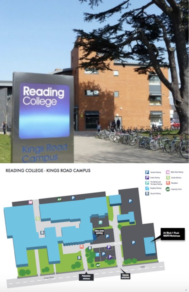 Reading College campus map