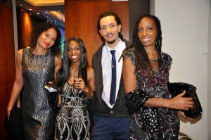 Michelle Genis, Nathifa Jordan, Paul Jr Watson and Mary Genis of CultureMix at the 19th BAS Awards