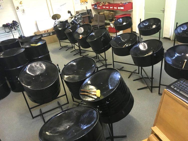 Steel pan starter set - 10 piece in black by CultureMix Arts