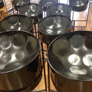 CultureMix Steel pan drum starter set with stands cases and sticks included