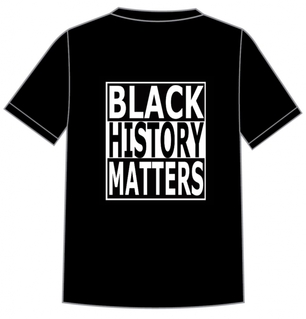 Black History Matters Central Mural T-shirt design by Mary Genis