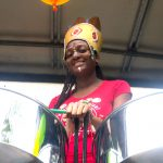 Reading All Steel Percussion Orchestra on float at London Notting Hill Carnival 2018