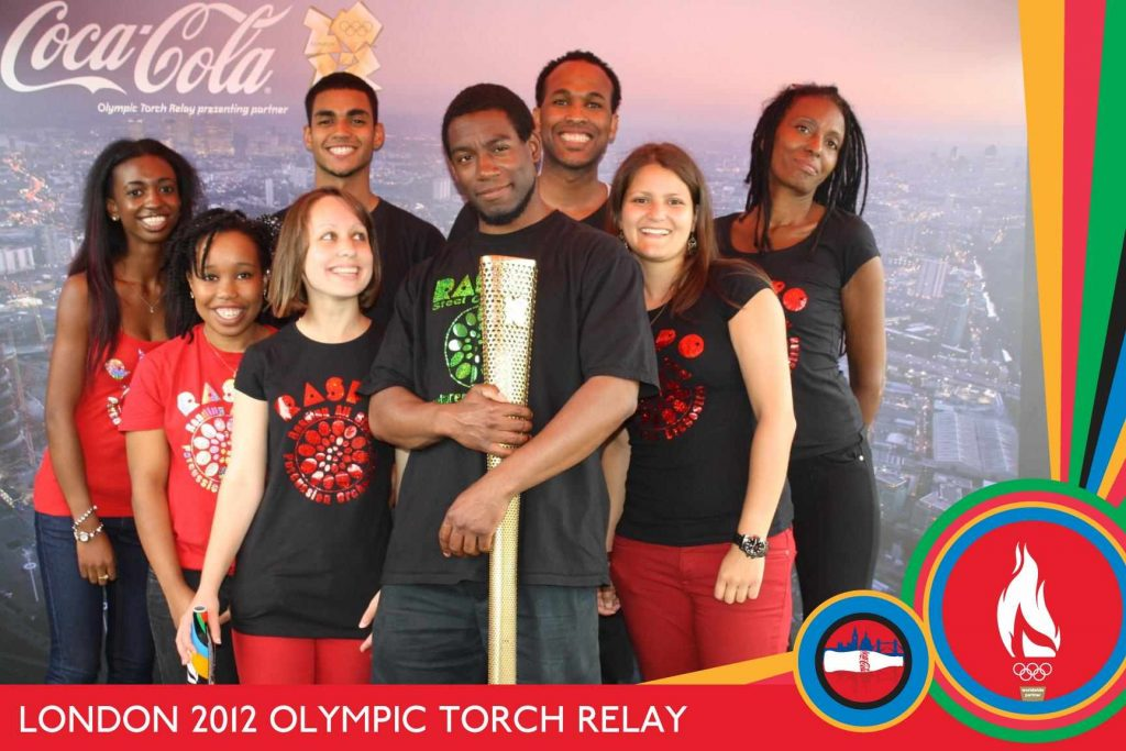 Dani Richardson with RASPO and Olympic Torch