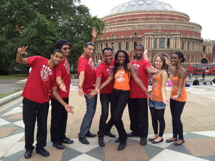 RASPO Steel Orchestra perform with the BBC Family Orchestra for Prom 58 at The Royal Albert Hall