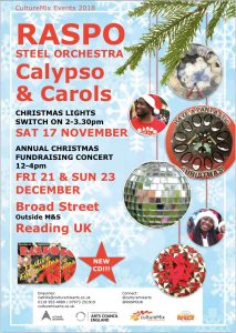 Calypso and Carols Concert Reading UK with Reading All Steel Percussion Orchestra RASPO CultureMix Arts 2018