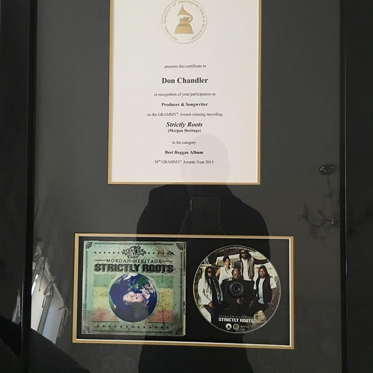 Don Chandler Grammy Award for producing Strictly Roots by Morgan Heritage