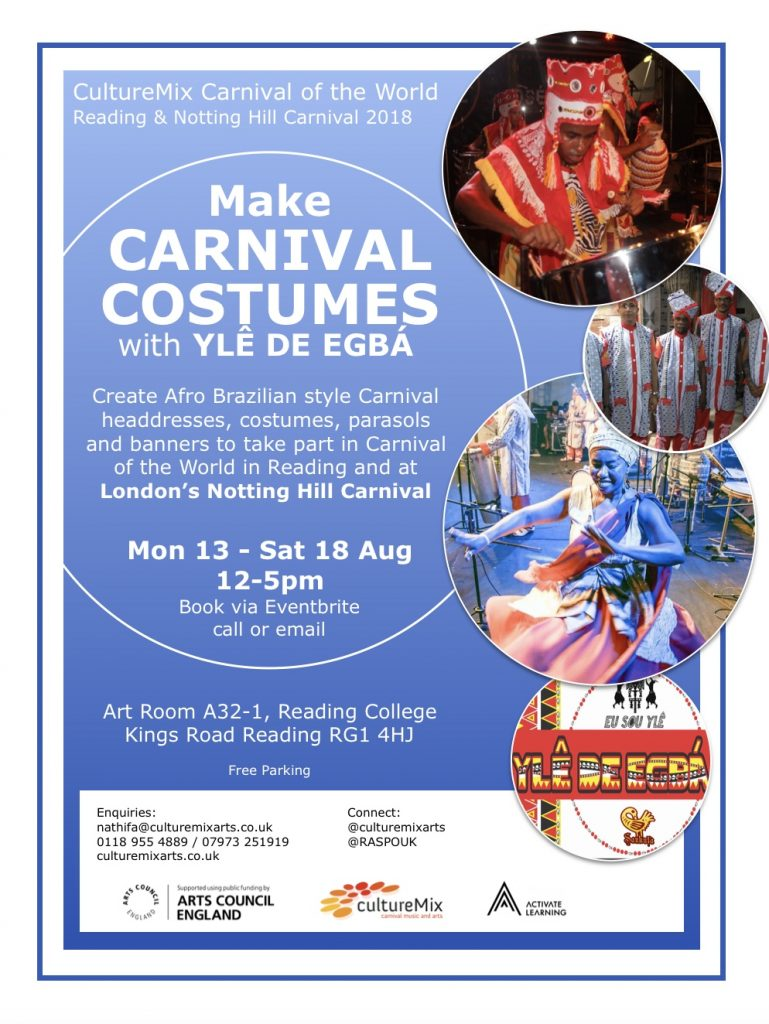 Carnival of the World Costume workshops with Yle de Egba for CultureMix Arts