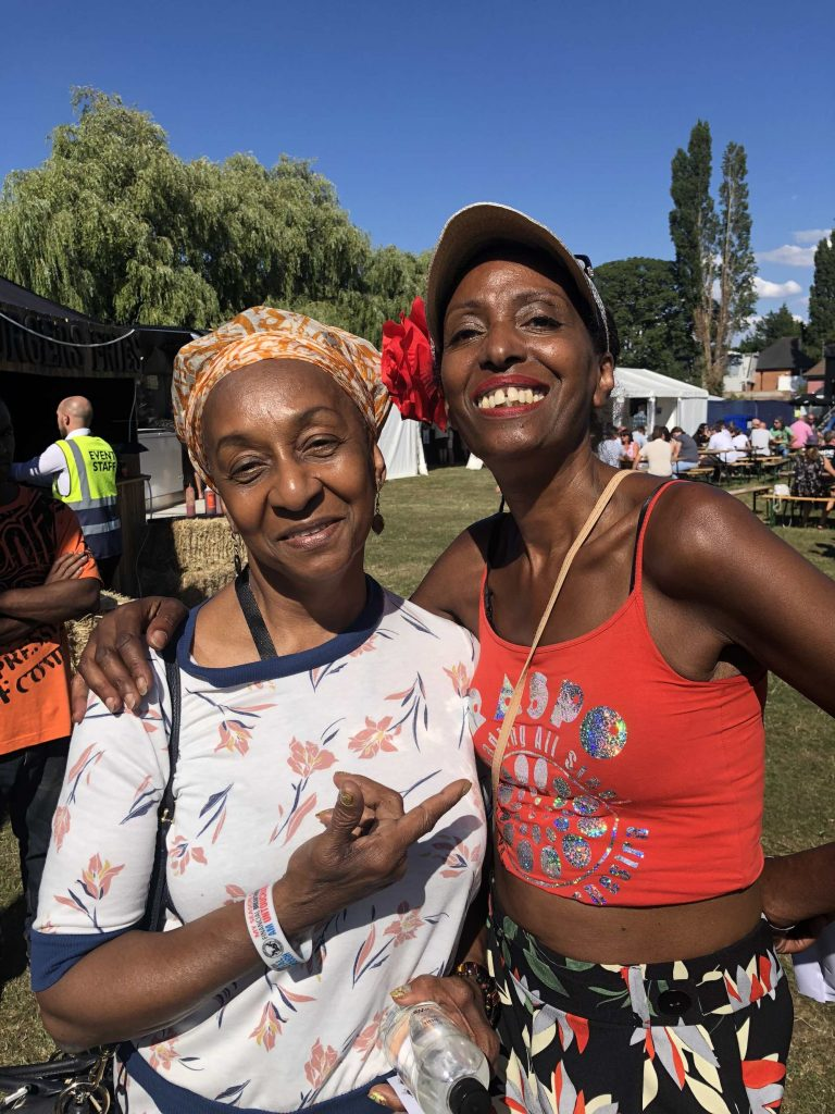 Mary Genis and reggae singer Dawn Penn at Readipop Festival 2018