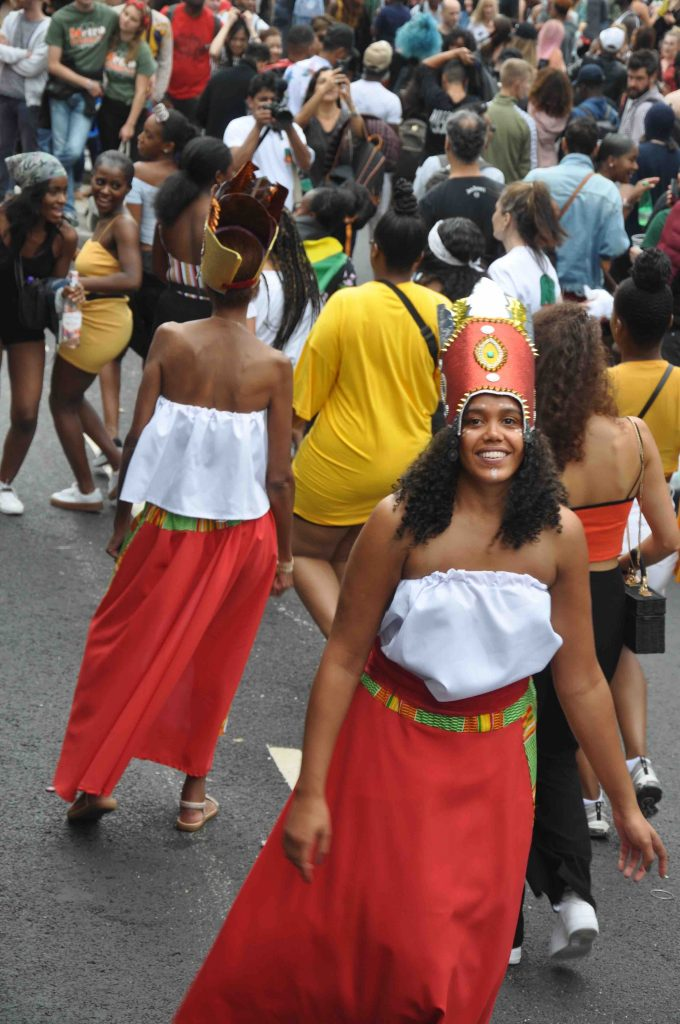 CultureMix Carnival of the World costumes at London Notting Hill Carnival 2018