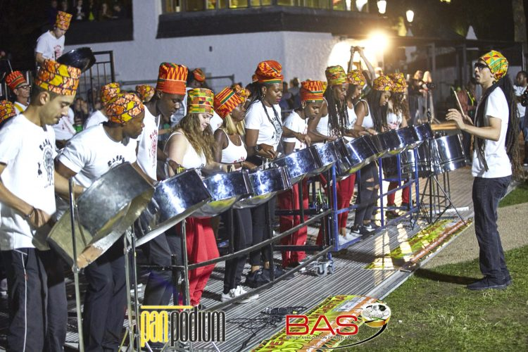RASPO Steel Orchestra UK and Yle de Egba NE Brazil join forces to compete in London Notting Hill Carnival's UK National Steel Band Championship 2018