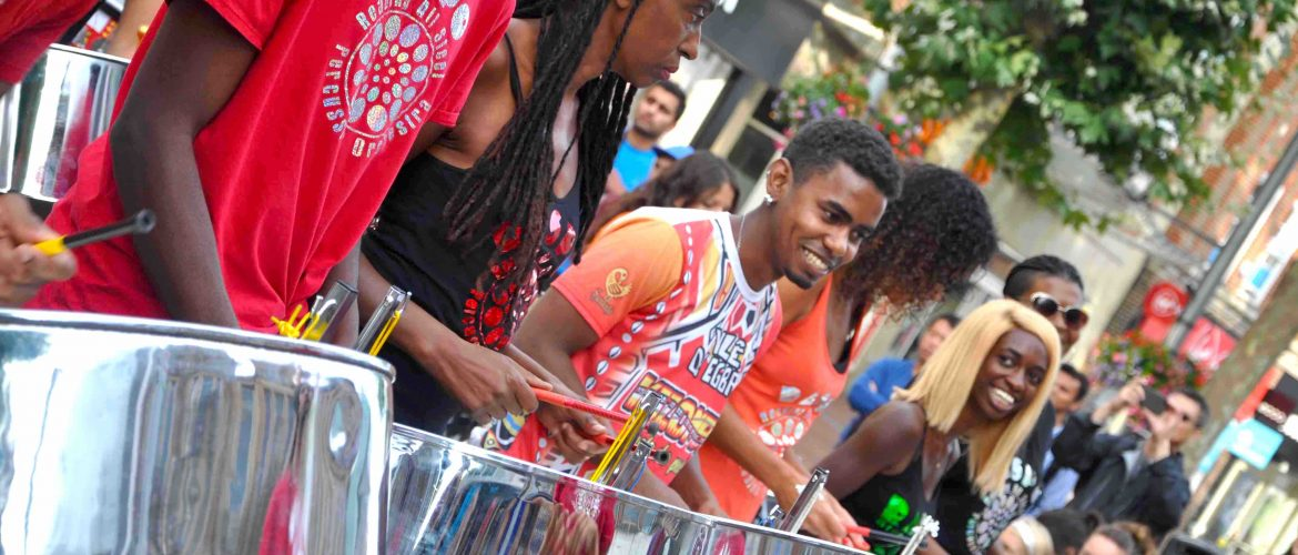 Panorama UK Steel Band Championships Preview in Reading with RASPO Steel Orchestra by Julia Brazil
