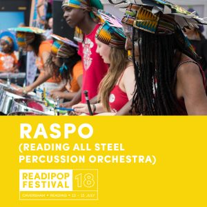 RASPO Steel Orchestra Artist Announcement for Readipop Festival 2018