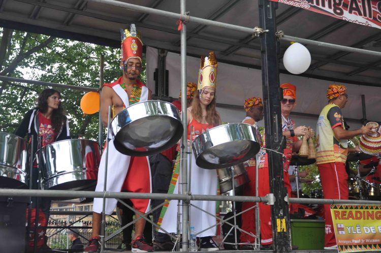 RASPO Steel Orchestra at 2018 London Notting Hill float procession
