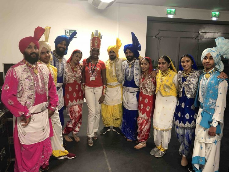 RASPO Steel Band Mary Genis at BBC SPOTY 2018 with Lions of Punjab