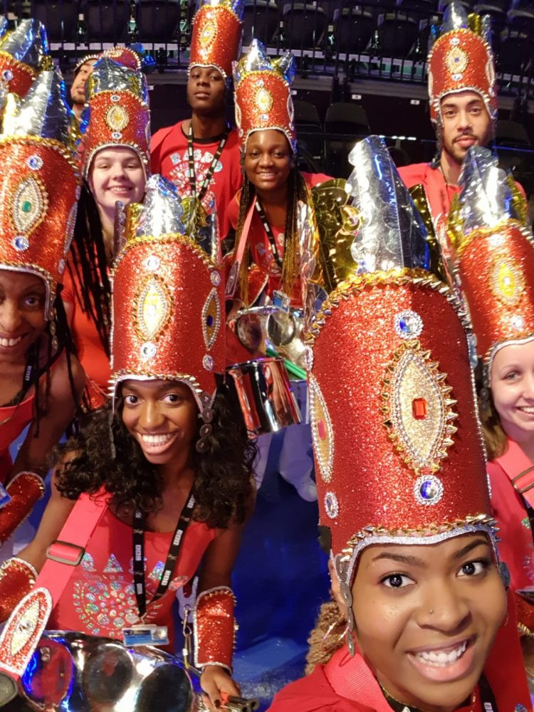 RASPO Steel Band take a selfie at BBC Sports Personality of the Year 2018