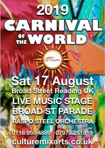CultureMix Carnival of the World Saturday 17 August 2019 featuring a live stage and the Broad Street Parade.