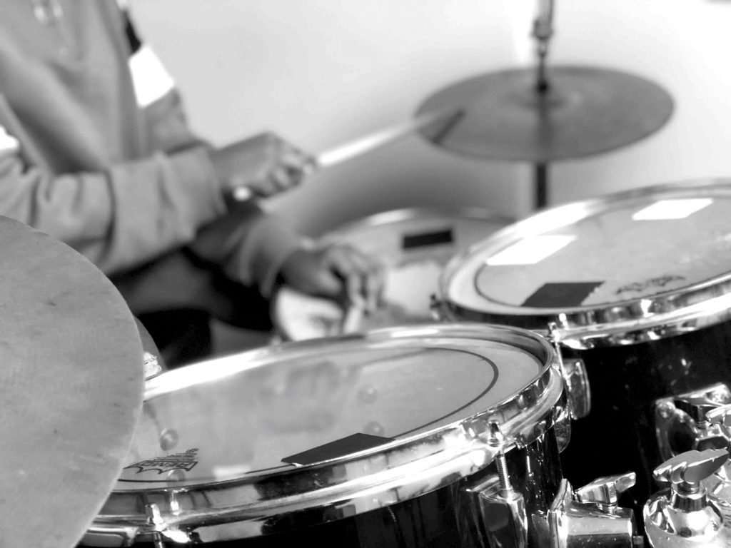 Drummer with sticks close up culturemixarts
