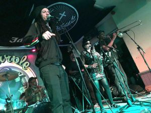 Junior Jnr Watson performs at Peace and Love Concert Vl with Horseman Black Steele Don Chandler at Purple Turtle Bar Reading 23 May 2019 image by CultureMix