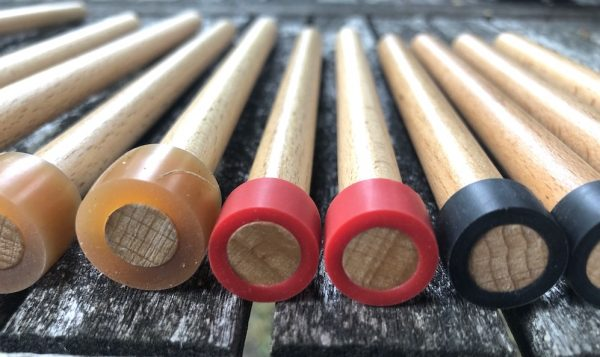 CultureMix Pan Sticks Beech - close up of tips in red black and amber