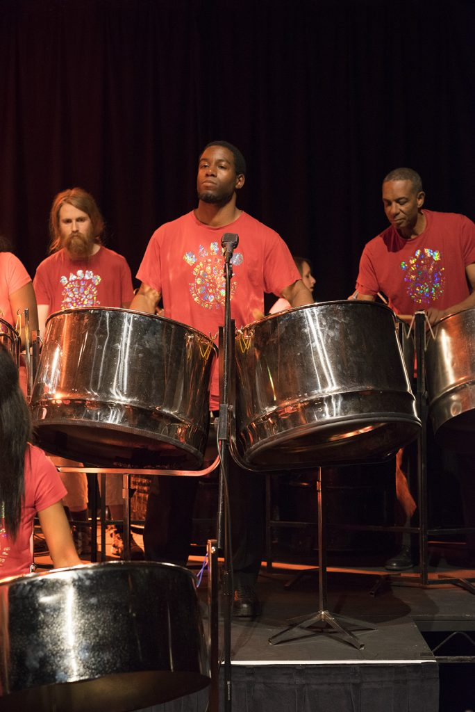 RASPO Steel Orchestra - Scruffi Dani Dudrey - at Peace and Love II South Street Arts Centre Reading by Gill Sinclair
