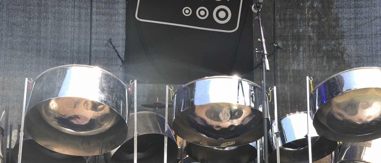 RASPO steel pan set up for CultureMix Showcase at Readipop Festival 2018