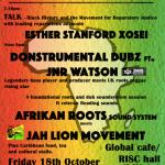 Reggae for Reparations flyer October 2019 RISC Reading UK