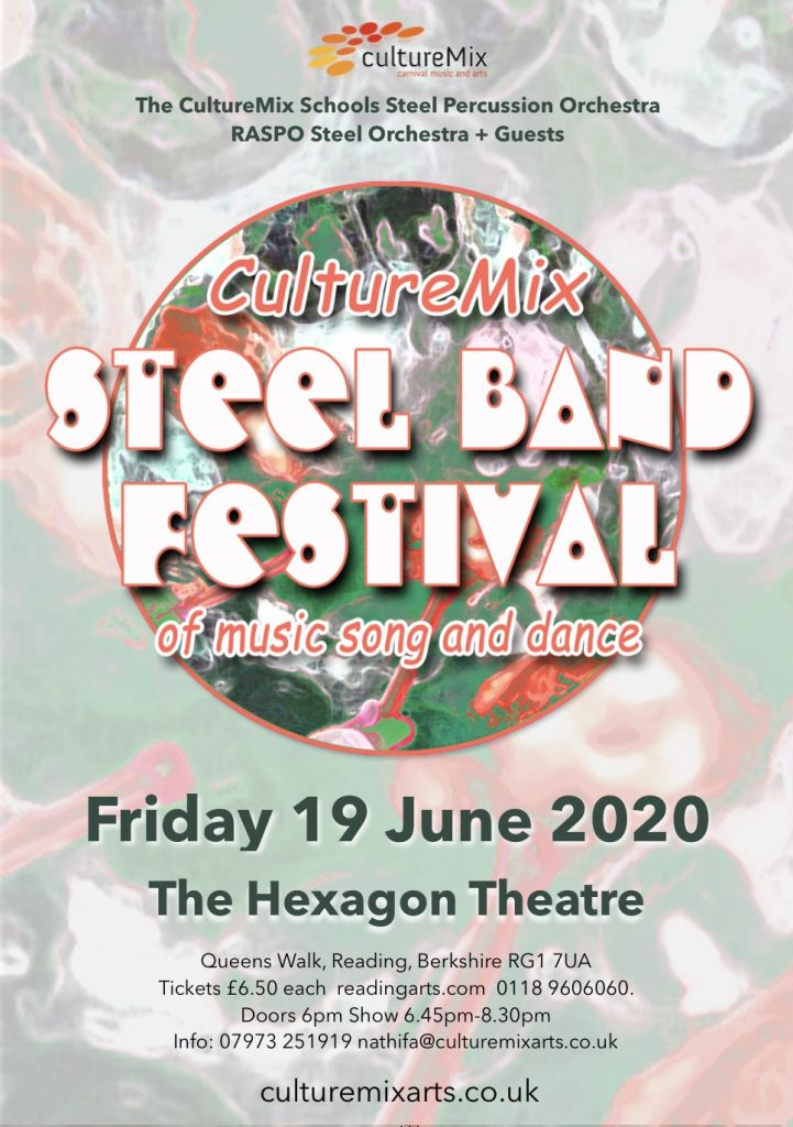 CultureMix Steel Band Festival flyer for 19 June 2020