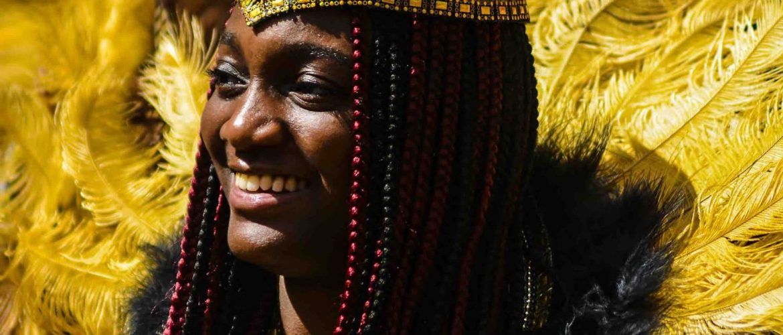 Carnival of the World 2019 Reading Broad Street Parade Aisha Sowah wears Inspiration Arts Costume image by Robert Varga Peterson