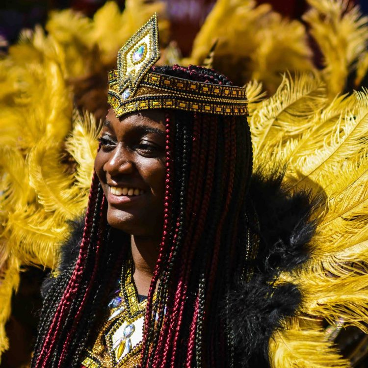 Carnival of the World 2019 Reading Broad Street Parade Aisha Sowah wears Inspiration Arts Costume image by Robert Varga Peterson