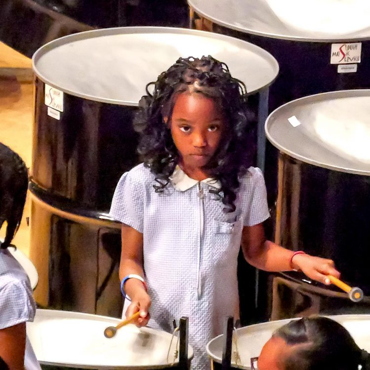 CultureMix Steel Band Festival 2018 Western House Steel Band perform with the Schools Orchestra perform image by Ben Taylor Hewitt