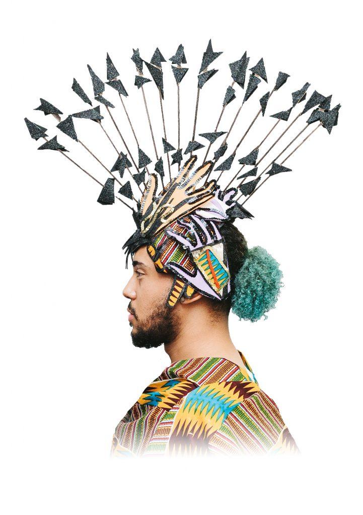 Carnival headdress Melissa Simon Hartman for CultureMix Arts Model Jamah Lynam image by Salvo Toscano