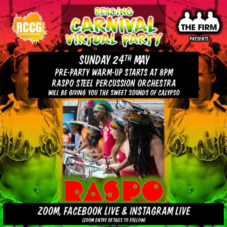 Reading Carnival Virtual Party with The Firm 24May2020- flyer