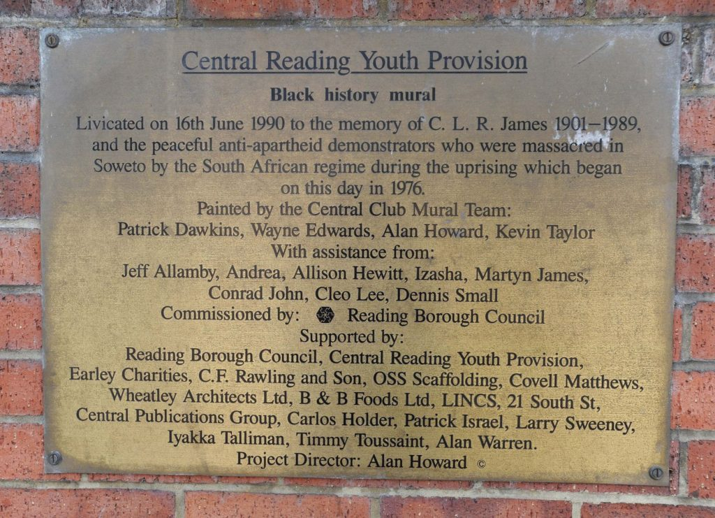 Central Mural plaque - Get Reading 2017