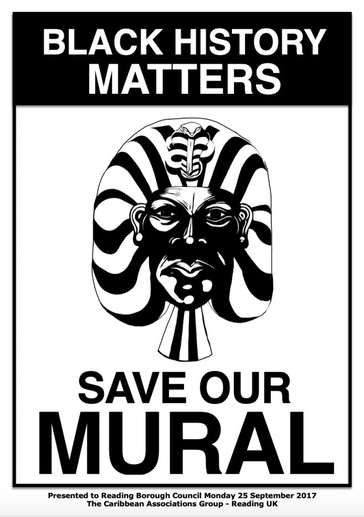 Reading Central Club Black History Save Our Mural poster