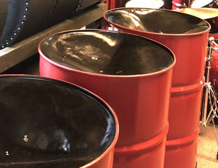 CultureMix Steel Pan Six Bass Set in dark red