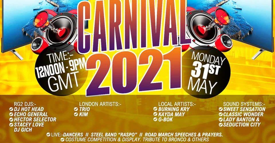 Reading Virtual Carnival flyer 2021