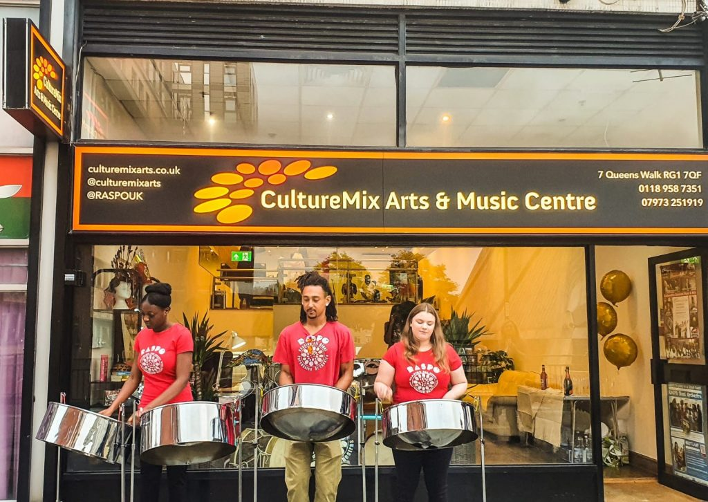RASPO perform outside at CultureMix Centre launch on 9 Sep 2021 image by Anisha Thomas