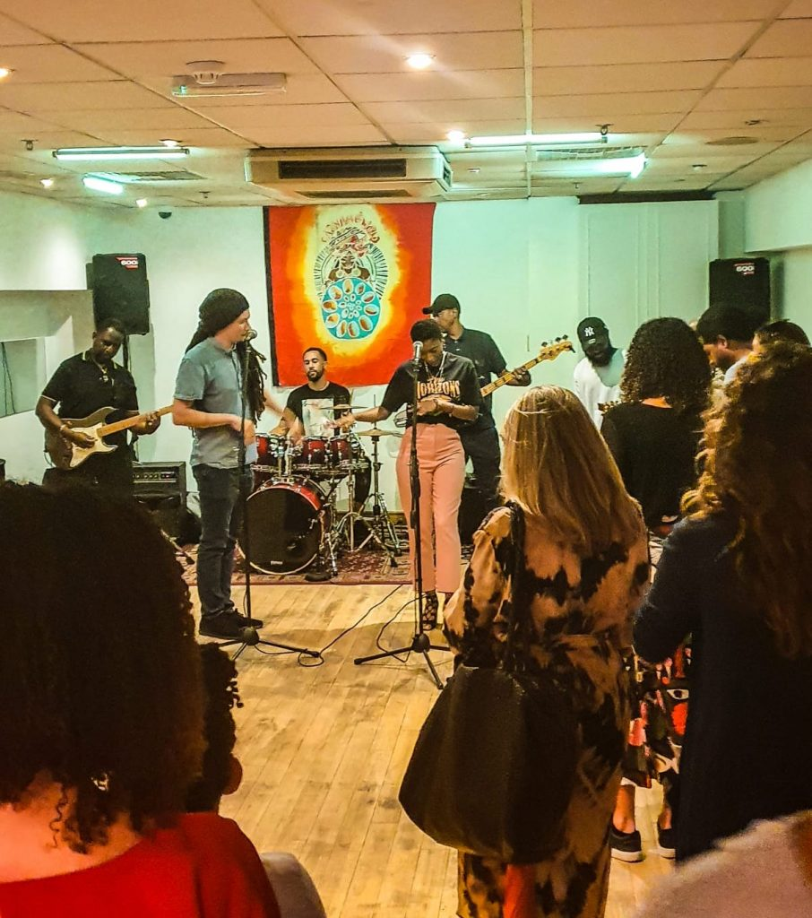 Reading Reggae Collective perform at CultureMix Centre launch on 9 Sep 2021 image by Anisha Thomas